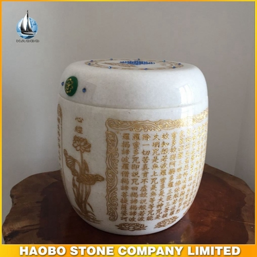 White Marble Cremation Urns