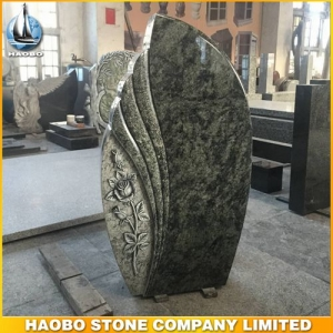 Olive Green Granite Headstone Designs