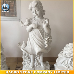 Marble Baby Angel Statue