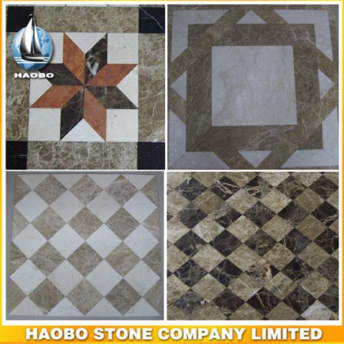 Creative Marble Water Jet Pattern Tiles