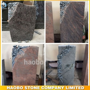 Granite Colors Carved Rose Headstones