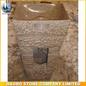Yellow Granite Stone Bathroom Sink
