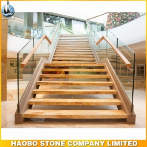 Golden Macauba Marble Stair Steps