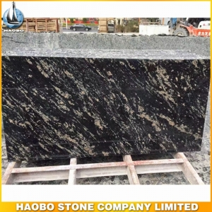 Black Titanium Granite Slab