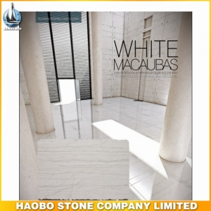 White Macaubas Quartzite Tiles With Brushed