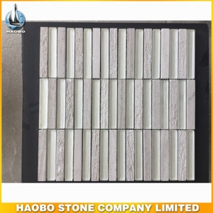 Grey Girl Marble Mosaic Tiles With Polished & Honed HAOBO-STONE