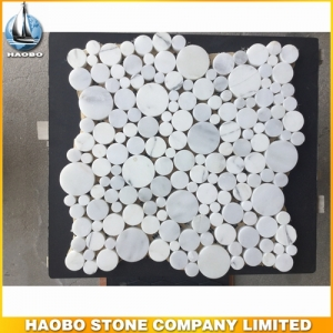 Round Designs White Marble Mosaic Tiles