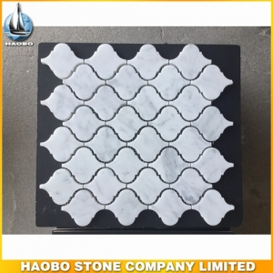 Honed Carrara White Mosaic Tile