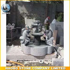 Carved Carp Stone Water Fountain Ideas