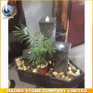 G654 Granite Stone Column Water Fountain