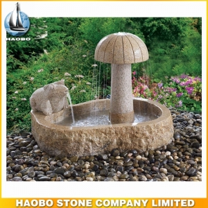 Carved Mushroom Stone Water Fountain Indoor