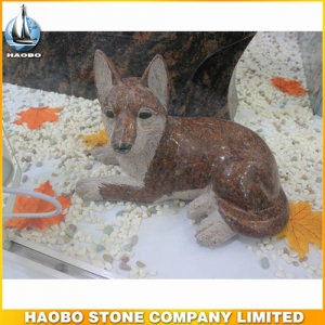 Red Granite Dog Sculpture From Haobo Factory