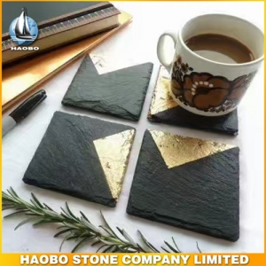 Square Black Serving Slate Plate