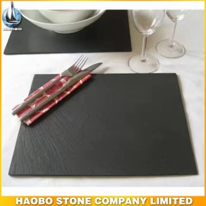 Natural Black Food Slate Plate For Dinner