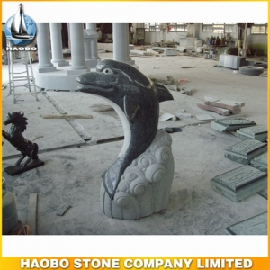 Carved Dolphin G654 Stone Water Fountain