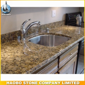Giallo Fiorito Granite Countertop For Kitchen