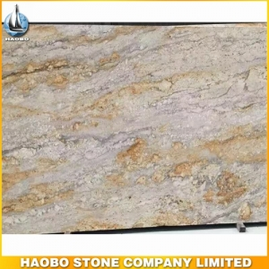 River Gold Granite Slab For Kitchen