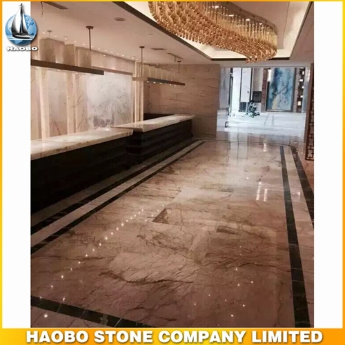 Cheap Barcelona Gold Marble Floor Tile Polish For Hall Decoration