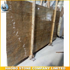 Barcelona Gold Marble Polish Slab Available 2CM