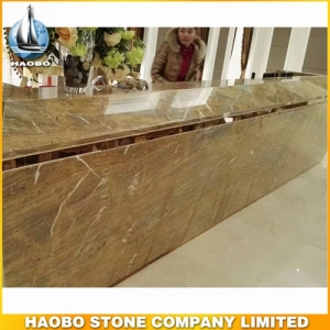 Barcelona Gold Marble Countertop For Reception Desk