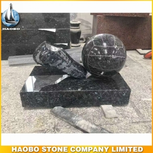 New Design Stone Football Carving