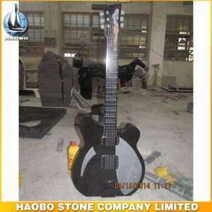 Hand Carved Shanxi Black Granite Guitar Designs