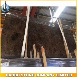 Exotic Dark Emperador Marble Slab Polished