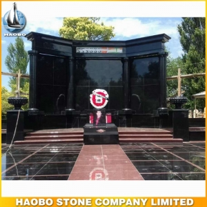 Shanxi Black & India Red Granite Family Mausoleum Designs