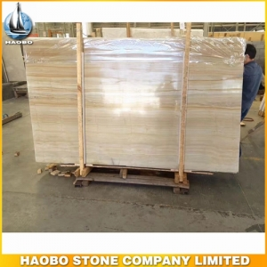 China Gold Wooden Grain Marble Slab