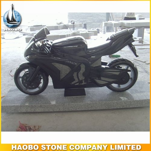 Shanxi Black Granite Motorcycle Sculpture Designs