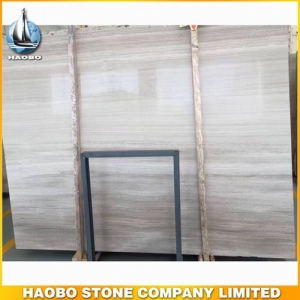 White Wood Grain Marble Slab