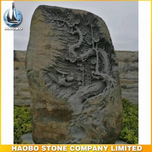 Wintersweet Basalt Stone Sculpture For Landscape Decoration