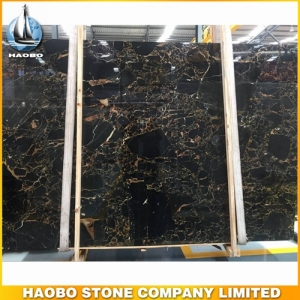 Golden Portoro Marble Slab
