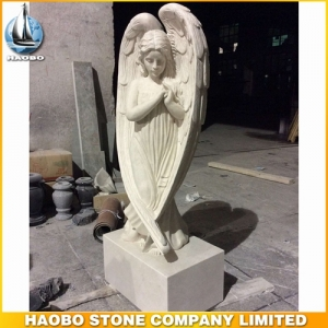 Carved Stone Angel Statue