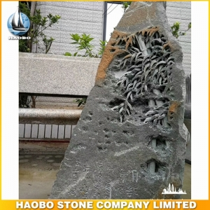 Basalt Stone Sculpture For Garden