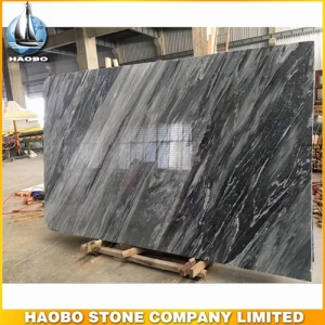 Dark Grey Carrara Marble Slab Tiles