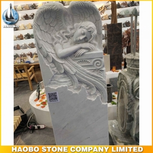 Carved Weeping Angel Headstone