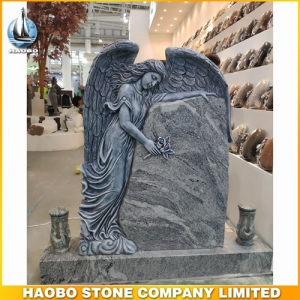 Carved Weeping Angel Memorial