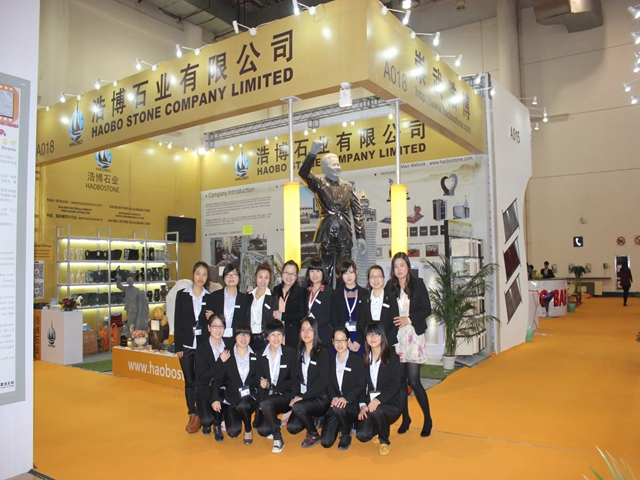 Haobo stone had attended the 14th Xiamen International Stone Fair